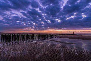 zonsondergang aan Zee von Rob Bout