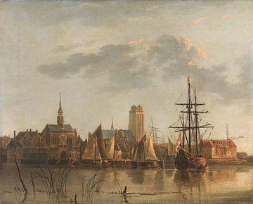 Gezicht op Dordrecht bij zonsondergang, Aelbert Cuyp