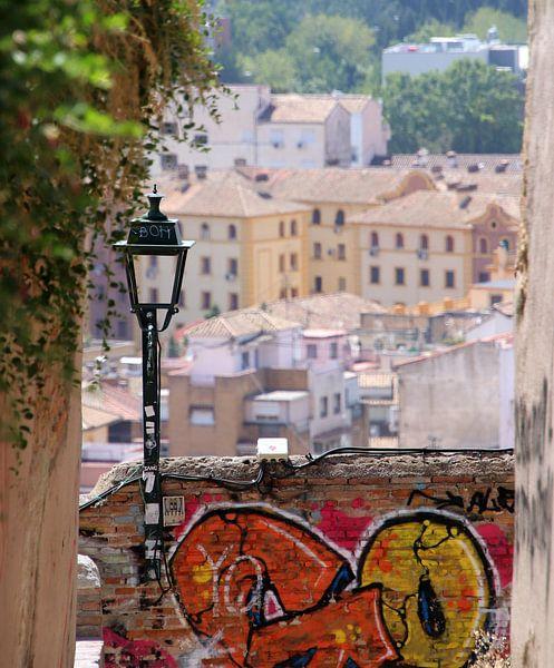 city view Granada van Jan Katuin