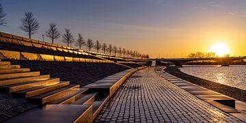 Goldener Sonnenaufgang Lentse Warande von Henk Kersten