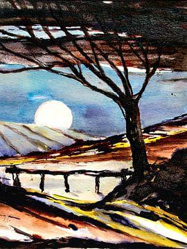 Witte maan van Christine Nöhmeier