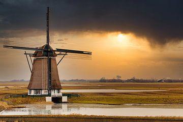 Molen op Texel. van Maurice van de Waarsenburg