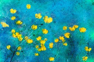 Butterblumen künstlerisch von Corinne Welp