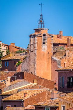 Gezicht op de Roussillon in de Provence van Christian Müringer