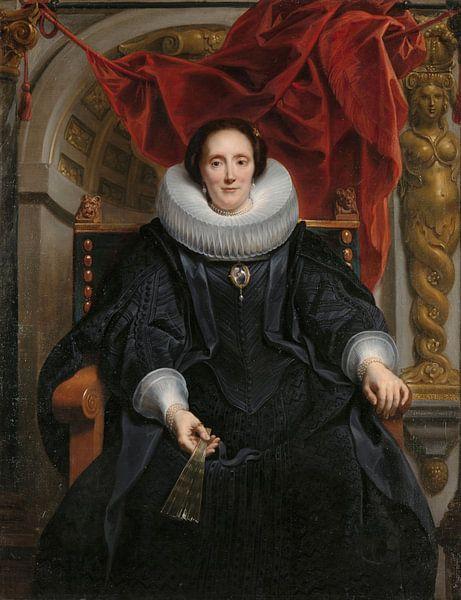 Portret van Catharina Behaghel, Jacob Jordaens (I) van Meesterlijcke Meesters