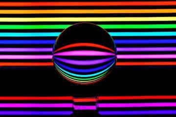 Kleurrijke spiegeling van Joke Beers-Blom