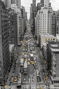 Typisch straatbeeld New York van Joost Potma
