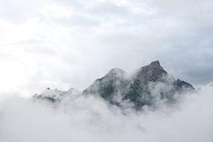 Alpen in de wolken