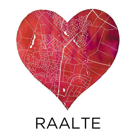 Liefde voor Raalte | Stadskaart in een hart