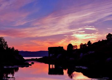 Sunset view van