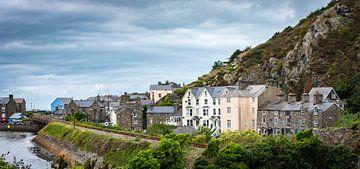 Pittoresk kustplaatsje in Wales, Groot-Brittannië van