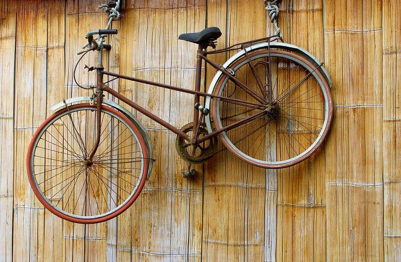 Vélo sur le mur sur Inge Hogenbijl