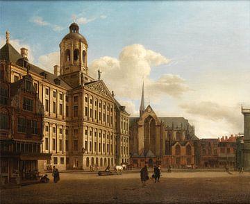 Jan van der Heyden . The Town Hall of Amsterdam with the Dam sur