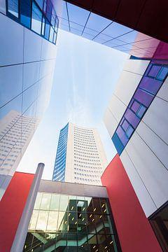 Universiteit en de stad hoogbouw in Leipzig van Werner Dieterich