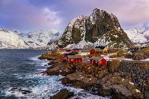 Hamnøy en hiver, Norvège