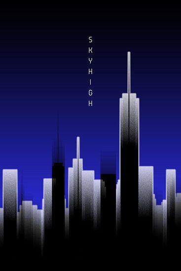 Graphic Art SKYHIGH Lights | blue