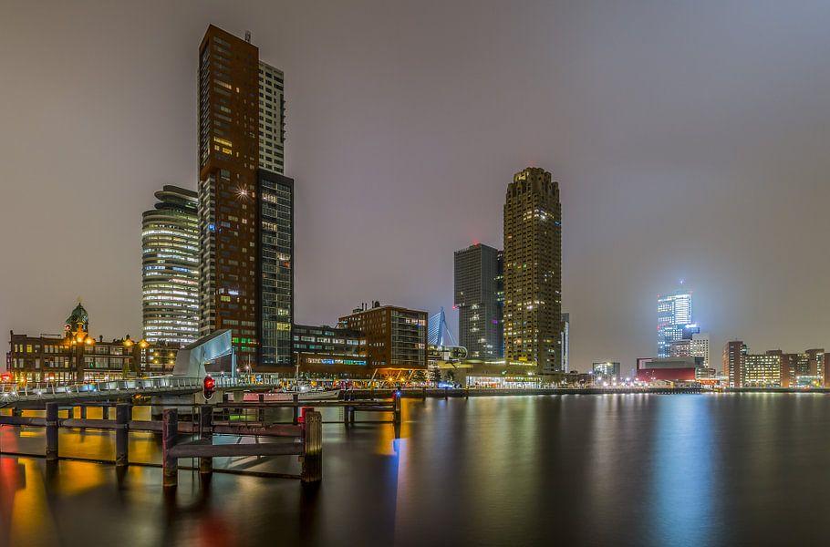 Skyline van Rotterdam van MS Fotografie