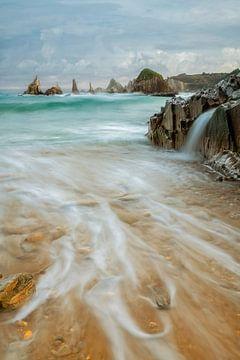 Playa Gueirua, Spanien