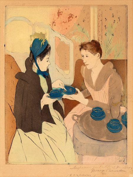 De namiddag thee, Mary Cassatt van Liszt Collection