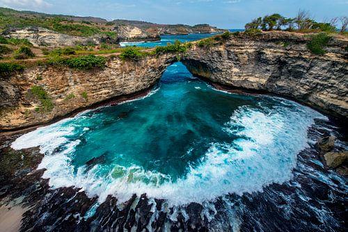 Broken Beach op Nusa Penida, eiland van Bali