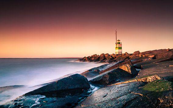 Sunset Lighthouse van Martijn Kort