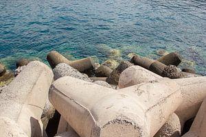 Betonnen waterkering Gran Canaria van
