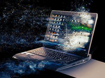 Weggeblazen PC van