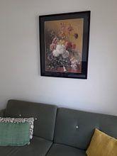 Kundenfoto: Stillleben mit Blumen in einem Vase, auf gerahmtes poster