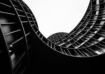Abstrakte Aufnahme von Axel Towers in Kopenhagen von Tomasz Baranowski