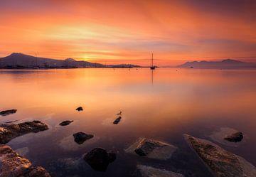 Mallorca bij Zonsopgang, Spanje van Frank Peters
