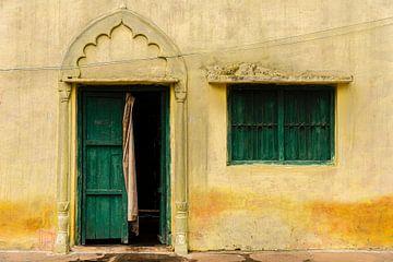 Fassade in Orccha, Indien von Theo Molenaar