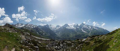 Panorama foto van de Grossclockner, Oostenrijk