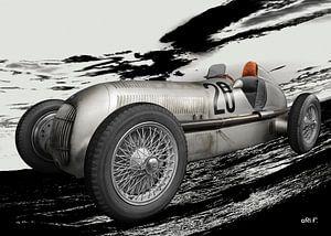 Mercedes-Benz W 25 Silberpfeil von aRi F. Huber