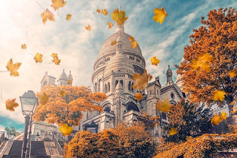 Montmartre en automne sur Manjik Pictures