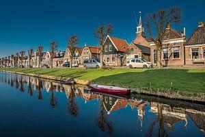 De langgerekte vaart van Stavoren, Friesland.