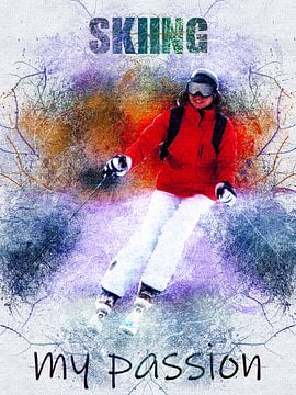skiën van Printed Artings