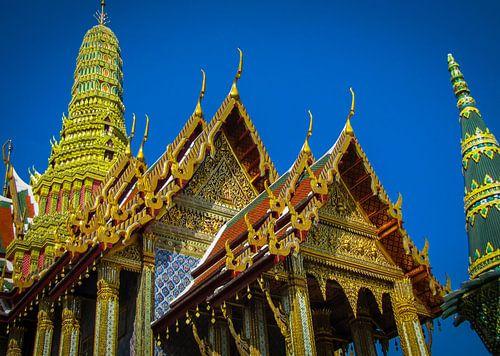 Gouden tempel, Wat-Phra-Kaew, Thailand van Rietje Bulthuis