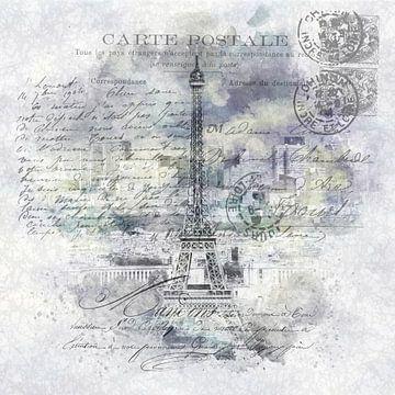 Paris Collage | Blick vom Tour Montparnasse von Melanie Viola