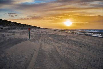 Strandpaal bij Wassenaar van Michael Echteld