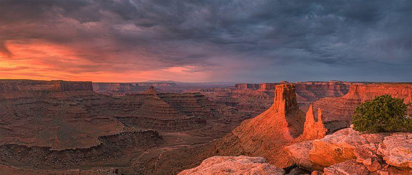 Zonsopkomst Marlboro Point, Canyonlands NP, Utah van Henk Meijer Photography