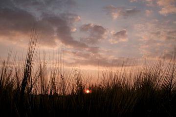 zonsondergang boven westerbork van jan van de ven