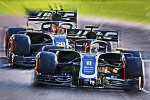 Grosjean and Teammate Magnussen