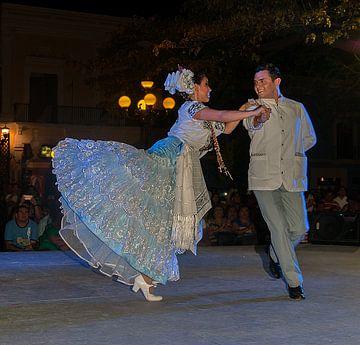 Mexico: Folkoristische danser  (Campeche) van Maarten Verhees