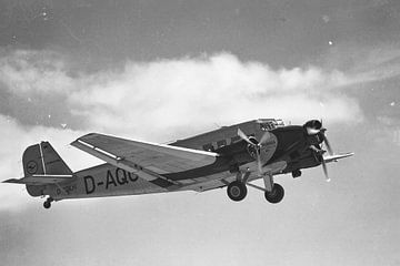 Junkers Ju 52/3m in zwart en wit van Tilo Grellmann | Photography