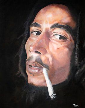 Bob Marley | Kunstprint schilderij van Milau Lesmana