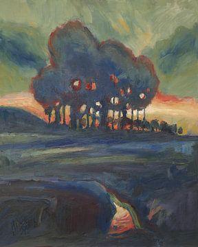 Sonnenuntergang im Tal des Gulpdal von Nop Briex