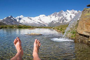 Lac de montagne Kreuzboden Saas-Fee sur Menno Boermans
