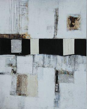 Structuurbeeld in grijs nr. 3 van Claudia Neubauer