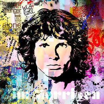 Jim Morrison van Rene Ladenius Digital Art