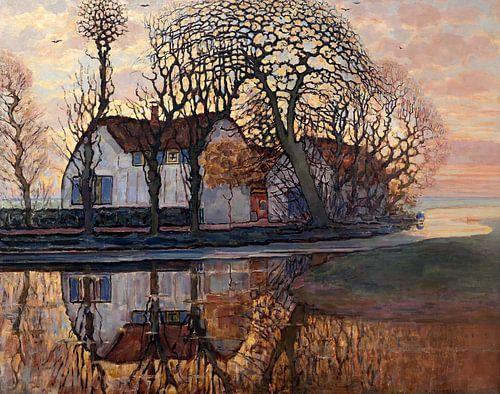 Piet Mondriaan. Landschap bij Duivendrecht van 1000 Schilderijen